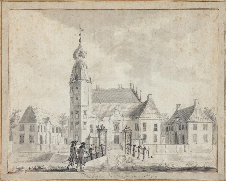Voorzijde Kasteel Rechteren anno 1729