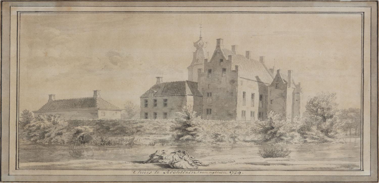Achterzijde Kasteel Rechteren anno 1729