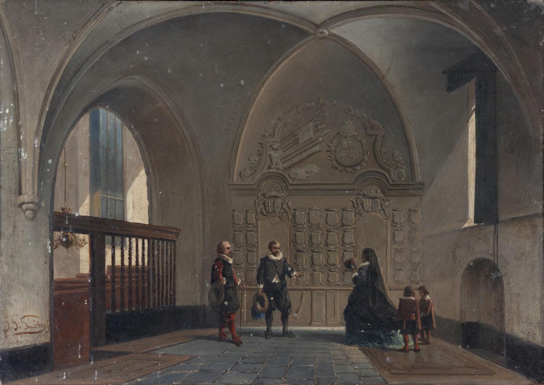 Interieur van de grote kerk te Dalfsen