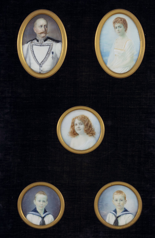 Vijf miniatuurportretten