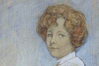 Voorstudies voor het portret van Carola gravin van Rechteren Limpurg